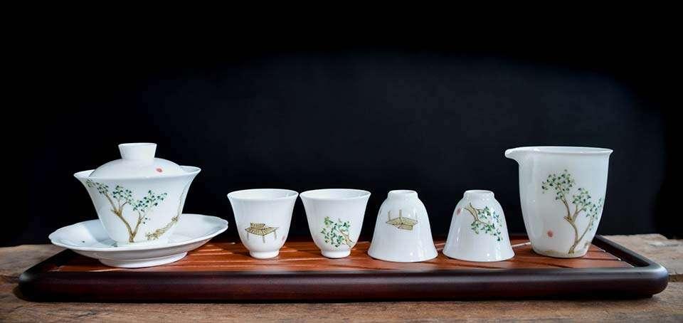 Scholarly Porcelain Modern Gongfu Set