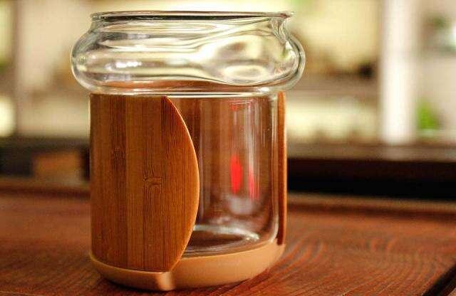 Xiang Fu Glass & Bamboo Pitcher