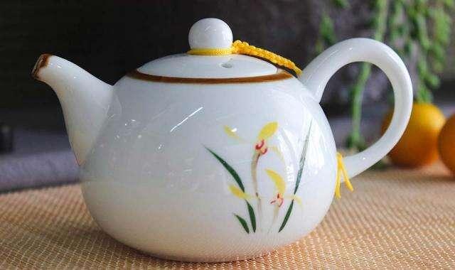 Yellow Iris Tea Pot