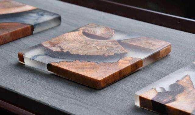 Wood & Resin Elemental Coaster