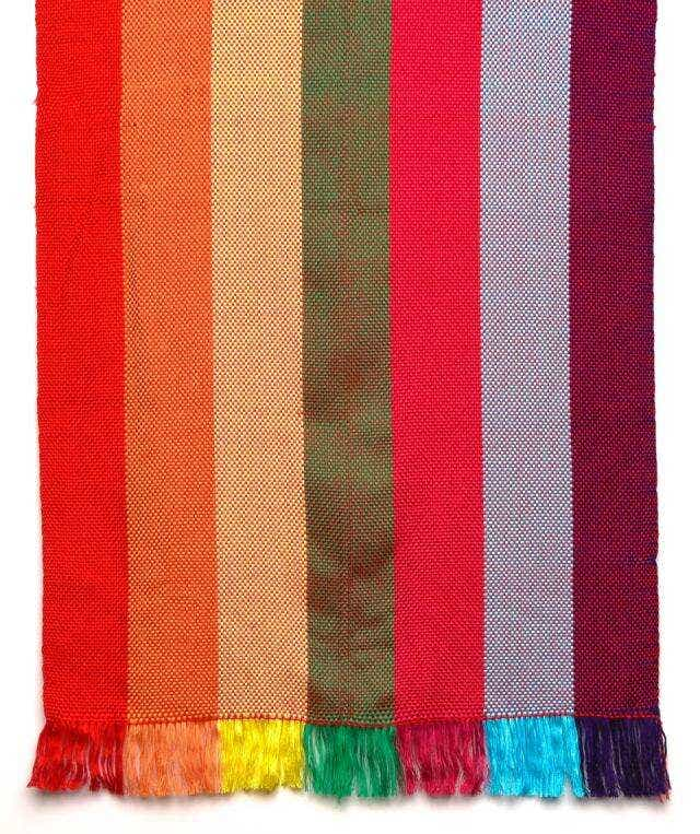 "Hand Woven ""Color Band"" Runner"