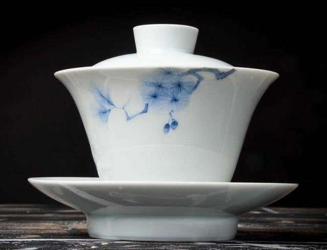 Pine Bough Scholarly Relief Gaiwan