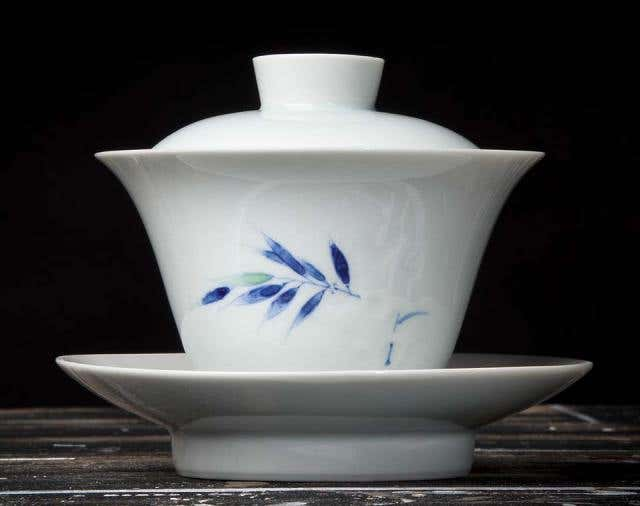Spring Bamboo Scholarly Relief Gaiwan