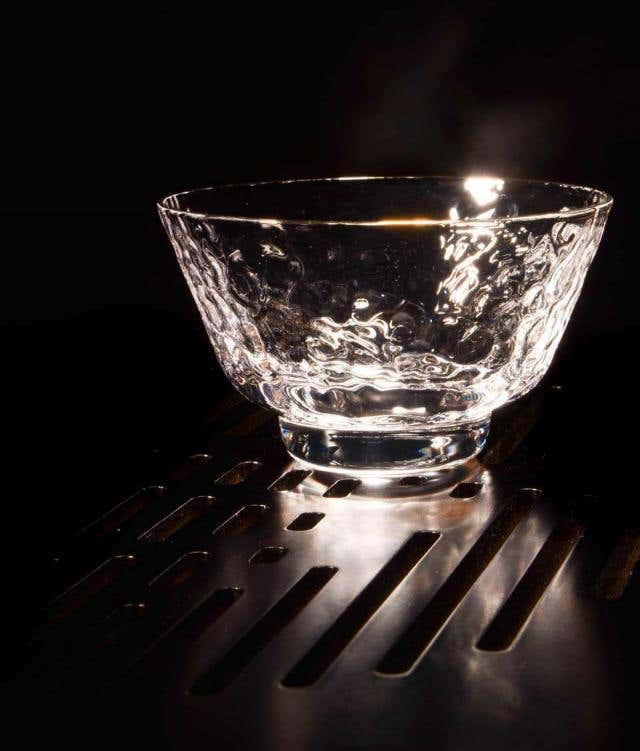 Gold Rim Crackle Bowl Cup