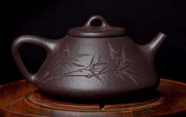 """Yuan Kuang Chen Pi Sha Ni Carved """"Shi Piao"""" Masterwork Yixing"""