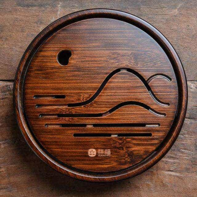 Circular Mountainscape Tea Tray