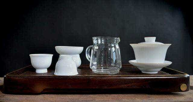 Banded Porcelain Full Gongfu Board Tea Set