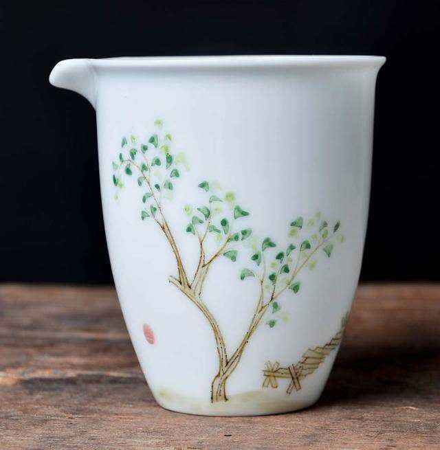 Scholarly Painted Pitcher