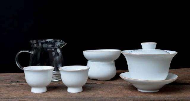 Banded Porcelain Tea Set