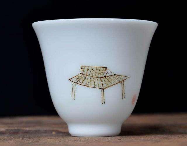 Painted Tea Pavillion Cup
