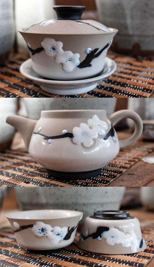 Flower Gaiwan Tea Set