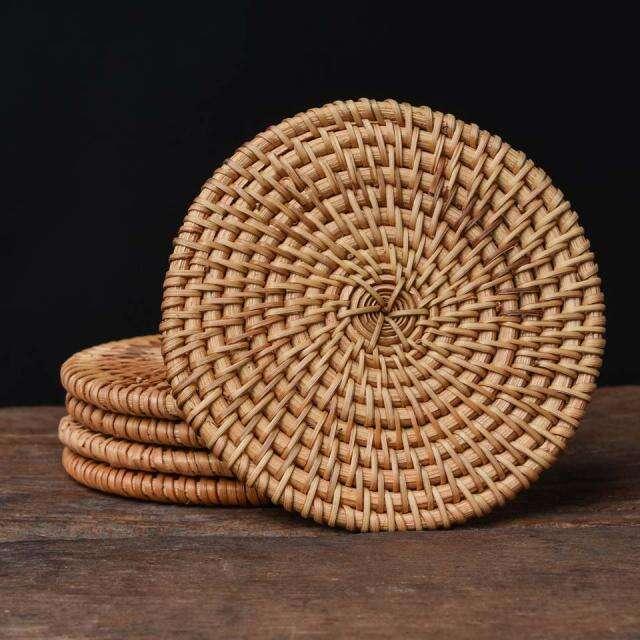 Bamboo Rattan Coaster