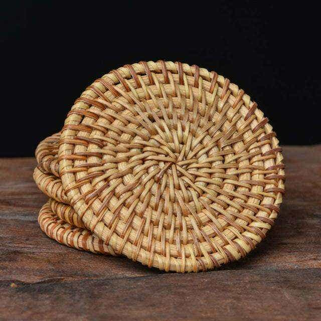 Small Bamboo Rattan Coaster