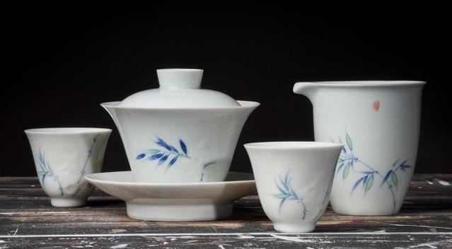 Spring Bamboo Tea Set
