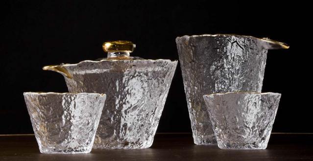Rippling Ice Glass Tea Set