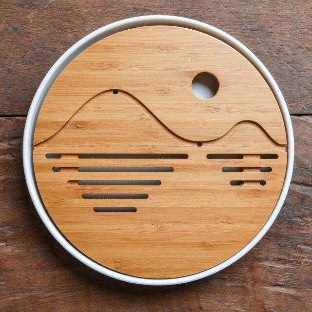 Mini Circular Tea Tray