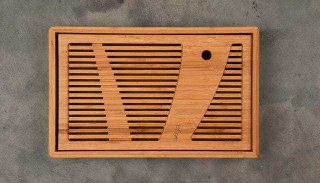 White Sweeping Bamboo Tea Tray
