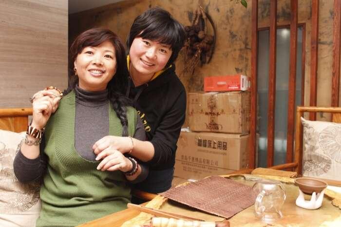 Wang Huimin and Weiwei