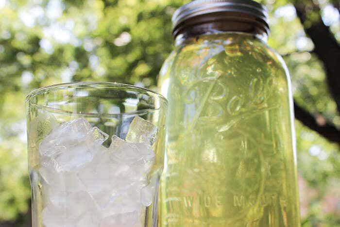 A glass of Ice and our cold-brewed tea