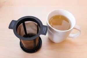 wet leaves mug of tea
