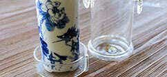 Hand Painted Blue Fish Test Tube Steeper