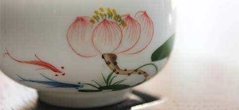 Jingdezhen Red Lotus Bubble Cup