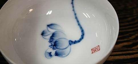 Jingdezhen Blue Lotus Bowl Cup
