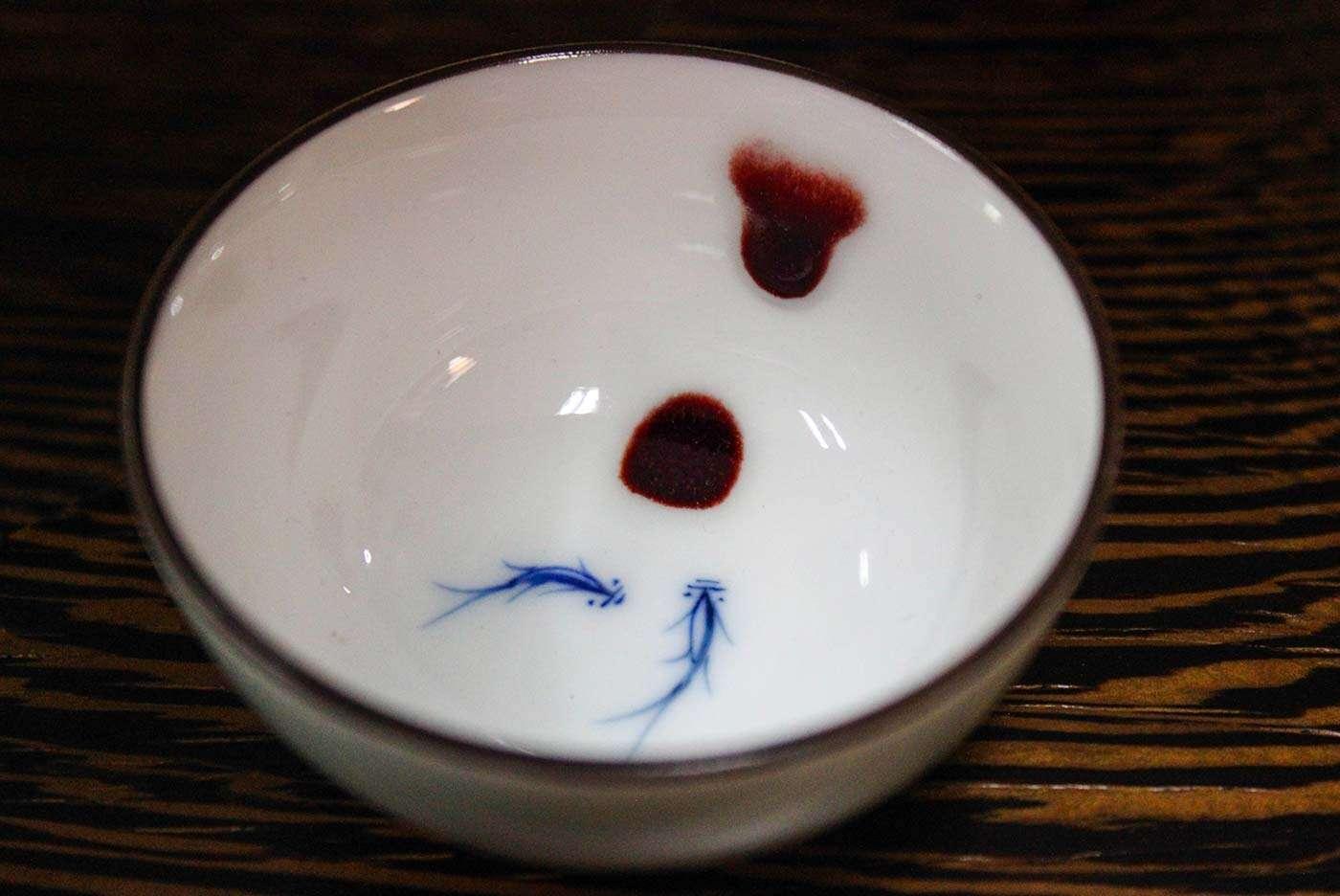 Jingdezhen Red Drop Fish Pair Bowl Cup
