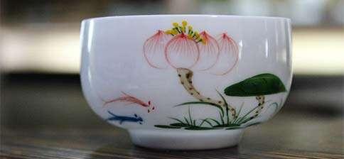 Jingdezhen Red Fish Blue Fish Bubble Cup