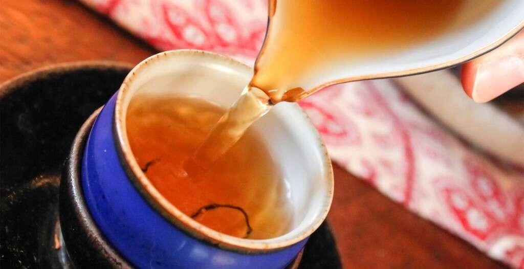 a cup of Laoshan Black