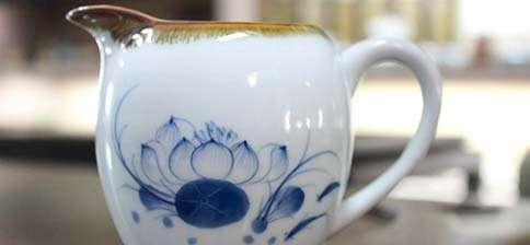 Jingdezhen Natural Edge Blue Lotus Pitcher