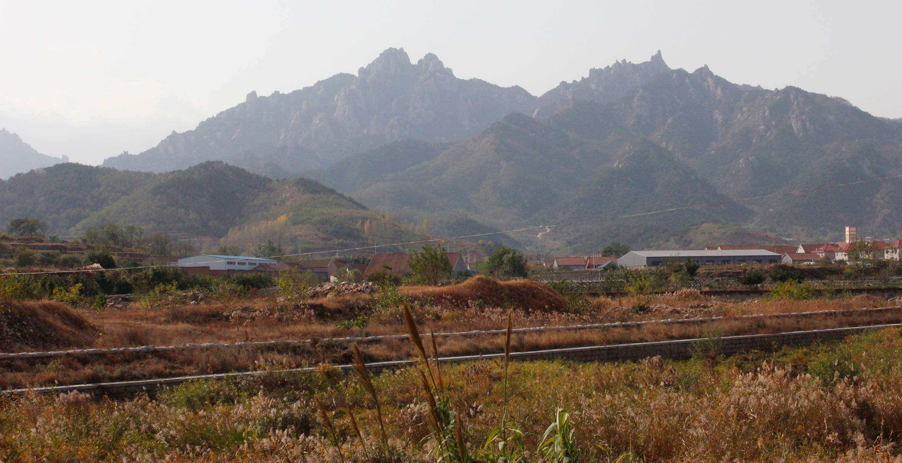 View of the mountain range from the He Family's workshop