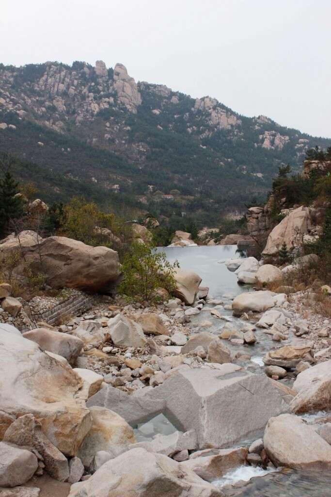 Spring-fed mountain streams on Laoshan