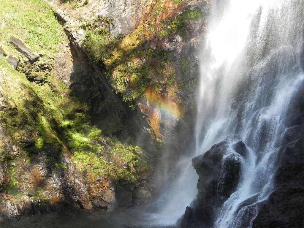 Mountain waterfall in Qianjiazhai