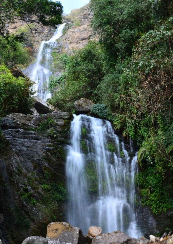 a mountain waterfall in Qianjiazhai