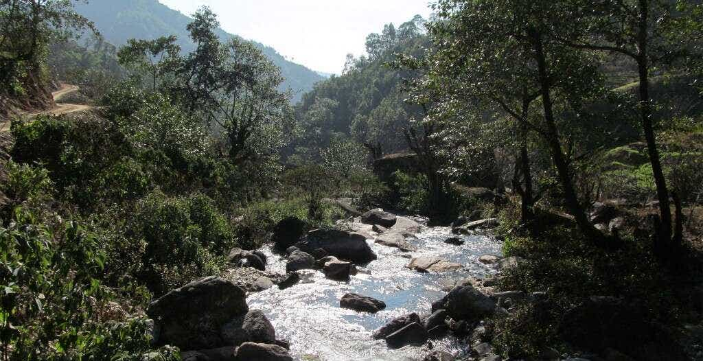 one of the many Spring-fed mountain streams in Qianjiazhai