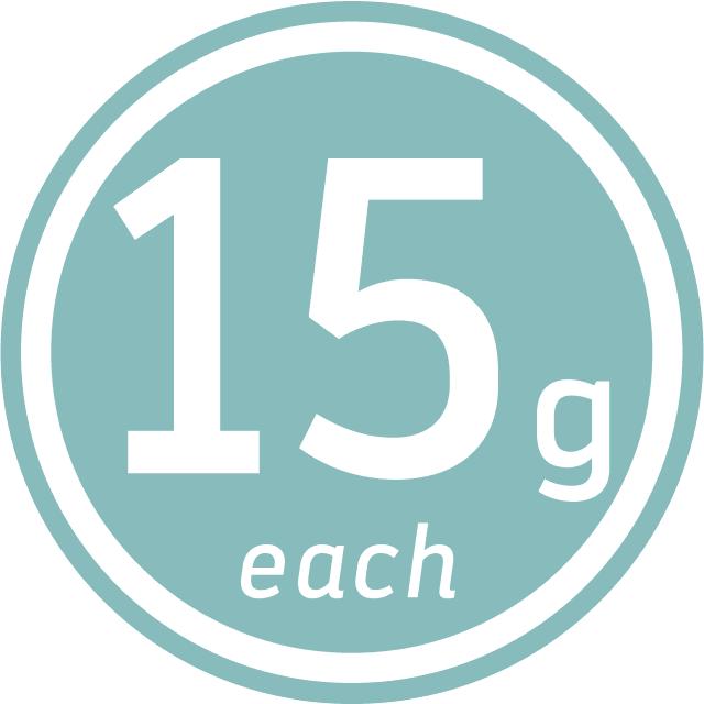 15_fifteen_g_grams_each