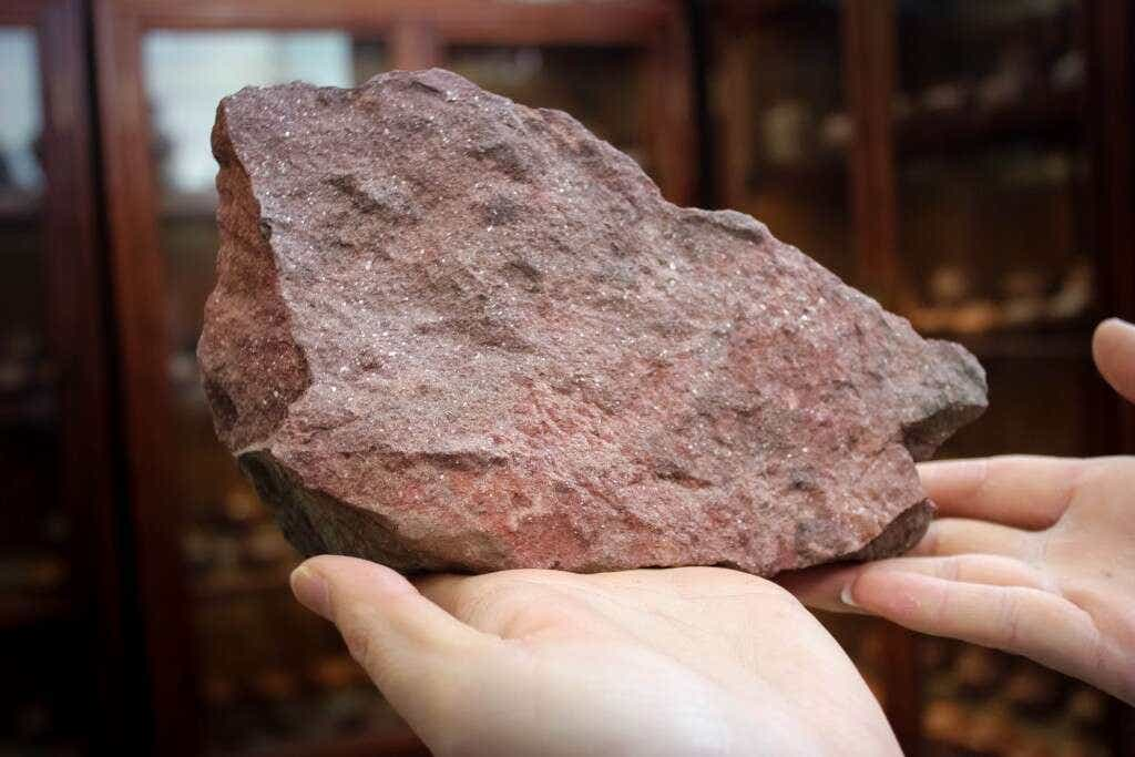 It all begins with here: this beautiful rock is a giant chunk of Zhu Ni