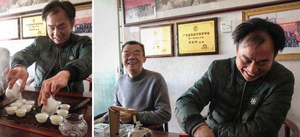 Master Zhang brews Dancong with Huang Ruiguang