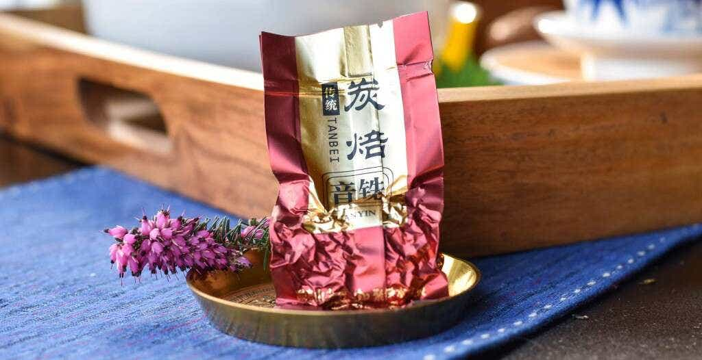 Master Zhang's Yun Xiang Medium Roast Tieguanyin is pre-packed into individual 5 gram single serving sizes.