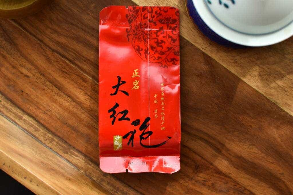 The Liu family's Tieguanyin Big Red Robe is pre-packed into individual 5g portions of tea.
