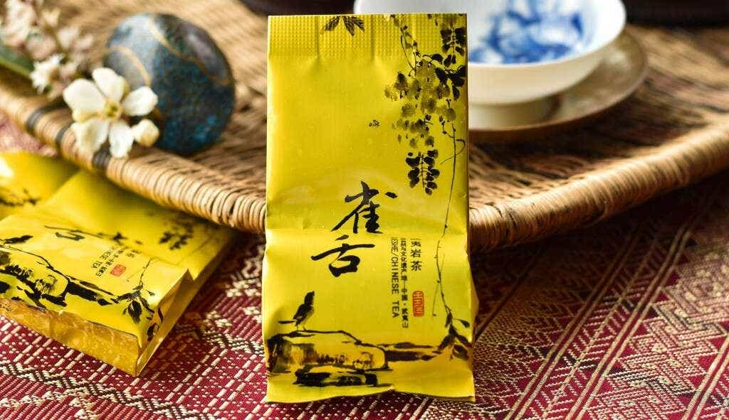 Sparrow's Tongue Wuyi Oolong is pre-packed in 5g single serving sample bags.