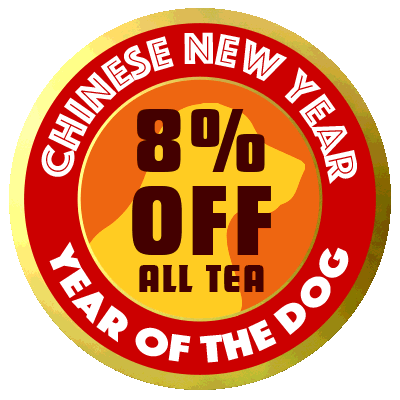Chinese New Year Sale: 8% off all tea