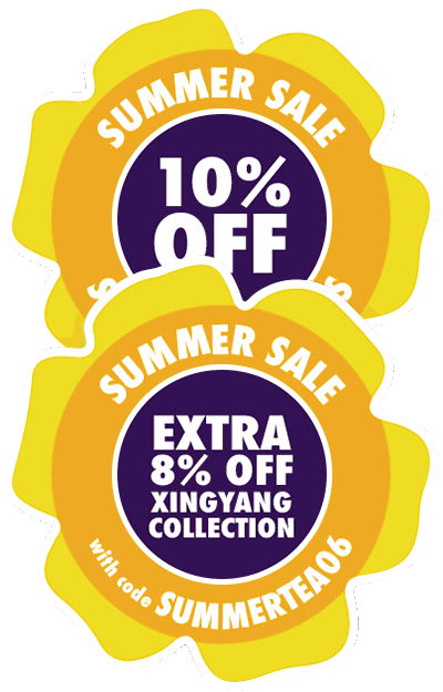 Summer Sale: 10% off all tea + Extra 8% off Xingyang tea with coupon SUMMERTEA6