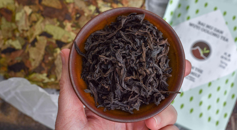the Li Family's Bai Mu Dan Wuyi Oolong from their March '19 Tea Club box
