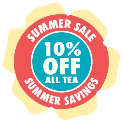 Save 10% on all tea, now through 9/2/19