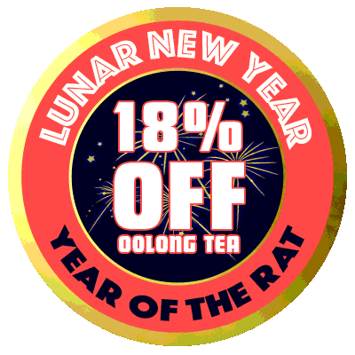 Save 18% on oolong teas, now through 01/30/2020