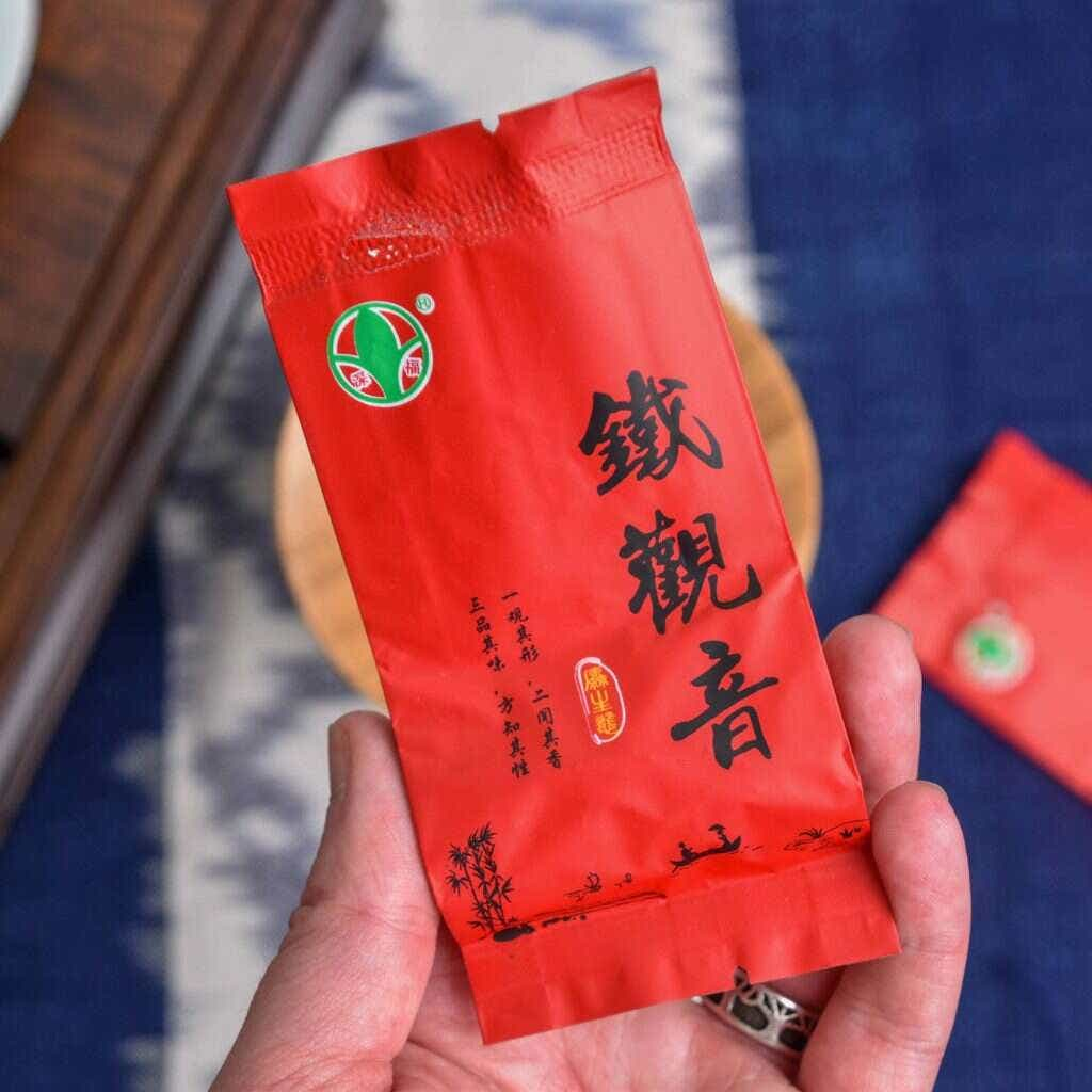 This tea is pre-packed in individual 5g packets for sizes under 100g.